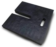 "Control Base molded from vulcanized rubber. 24""x24""x2"". 50lbs."