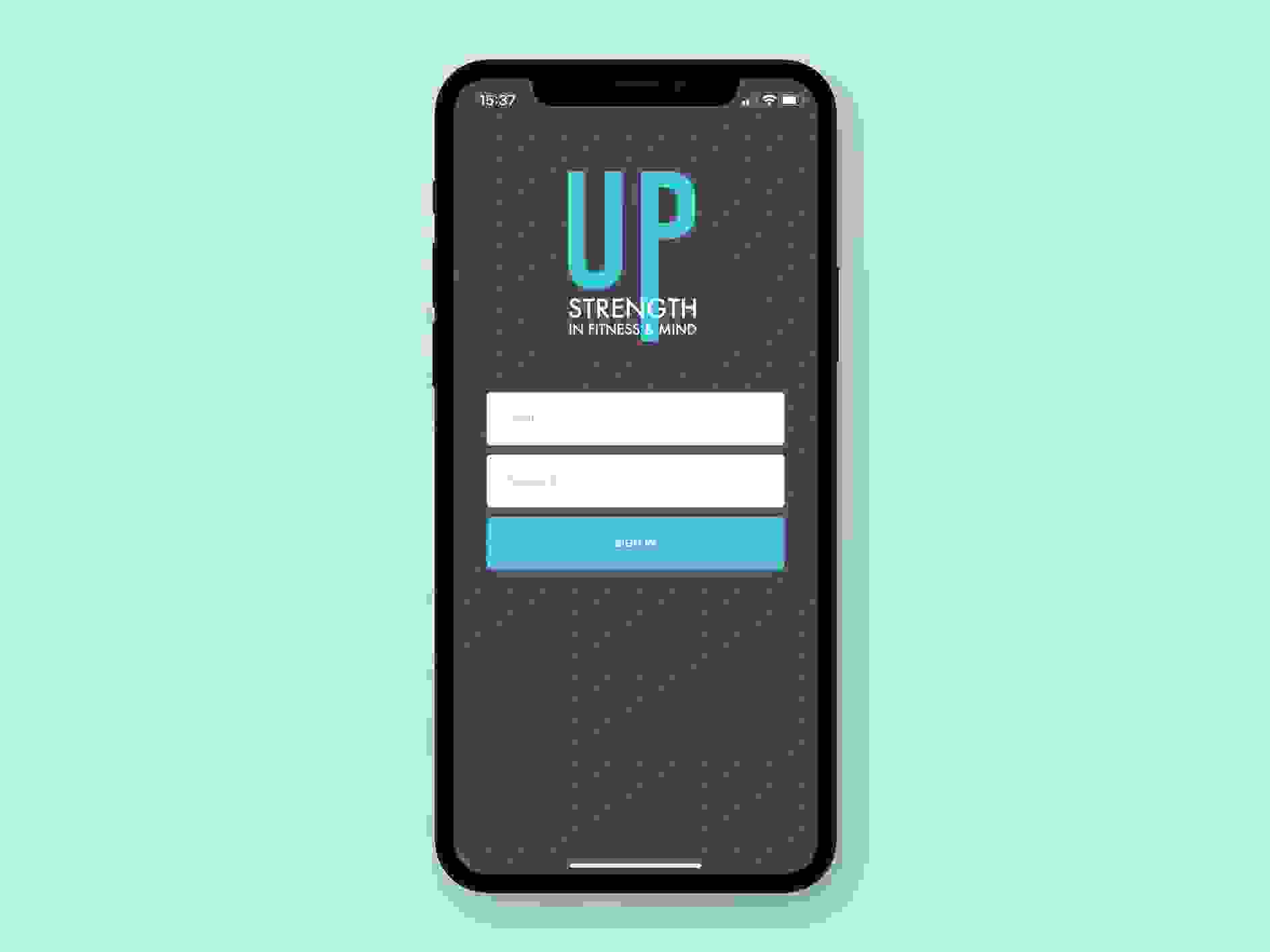 UP Strength Personal Training app - sign in