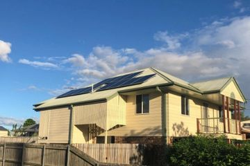 installed solar panels on house