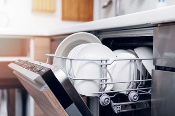 dishwasher being used