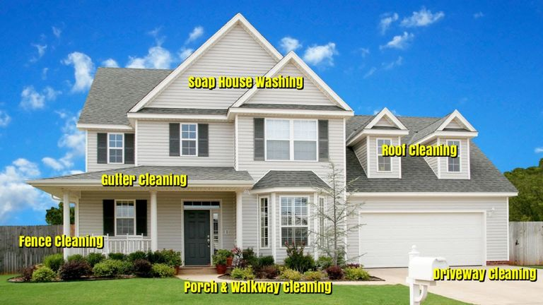 Roof cleaning pressure washing in Cape Girardeau, Missouri
