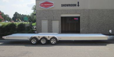 Silver Bullet is 32' long and can easily haul 2 cars