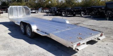 solid aluminum car hauler trailer with large road guard to protect your vehicle