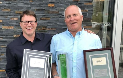 Matt Daley (Left) awarding Marc Roberts (Right) with the Highest GEA Sales Award