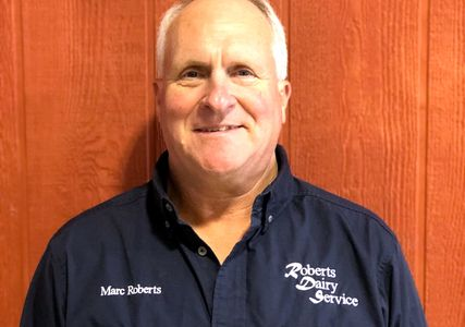 Marc Roberts owner of Roberts Dairy Service