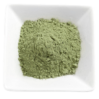 Organic Kratom - Borneo Kratom Powder in a White Bowl display image for the All About Kratom page.