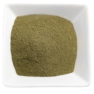Organic Kratom - Malaysian Kratom Powder in White Bowl display image for the All About Kratom page.