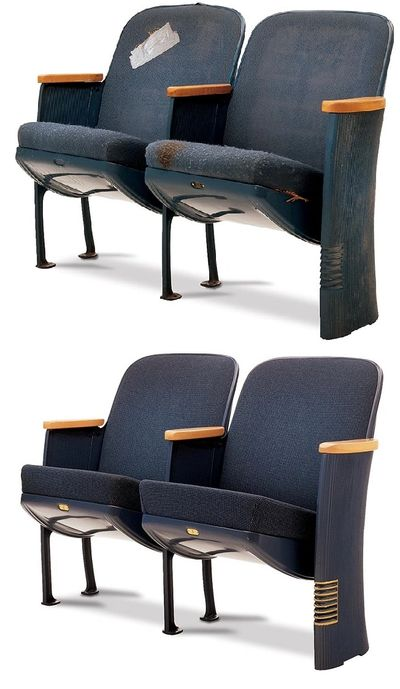 Seating Restoration, auditorium restoration, theater seating restoration, NJ seating restoration