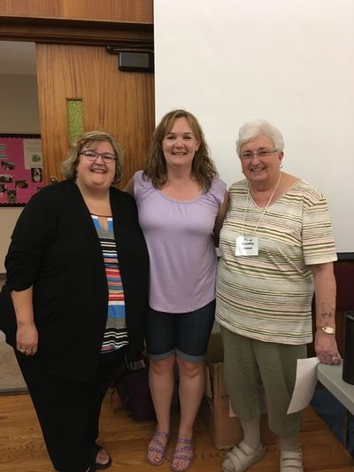 June 2019: SECE training with Sharon Jones (left) and Dorothy Jones (right). London, Ontario.
