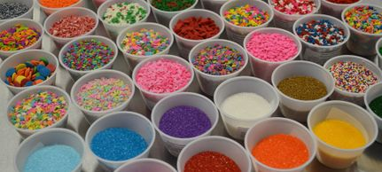 Sprinkles, Non perils, candy pearls, Jimmies