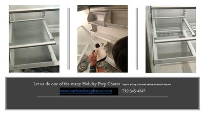 Does your freezer need to be cleaned after a summer of freezer pops? Let us steam clean it for you.