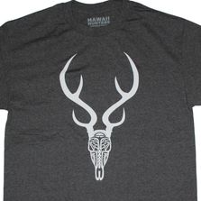 Hawaii Axis deer, buck. Designed with a Polynesian style signifying hunting.