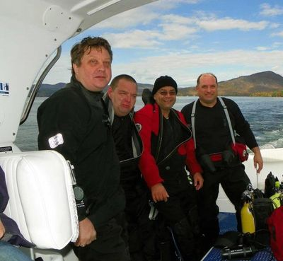 TDI deep dives with Bernie Chowdhury in Lake George, NY. aboard the Halfmoon Explorer.
