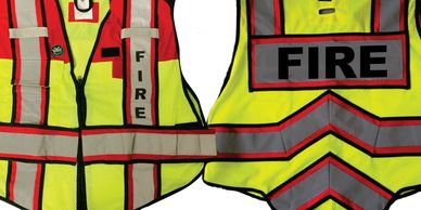 ULTRABRIGHT RED FIRE Public Safety Vests