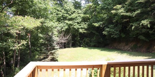 One view from the deck at the Little Creek cabin in Hendersonville, N.C.