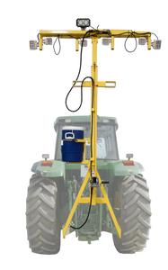 Adjustable Light Tower shown on tractor