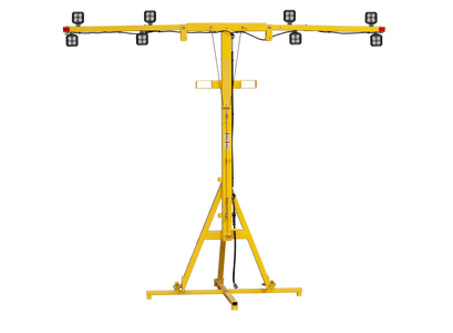 Fixed Light Tower shown on storage stand