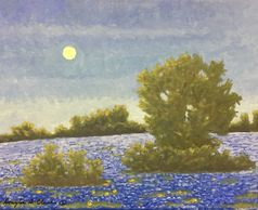 Bluebonnet Moon Rise