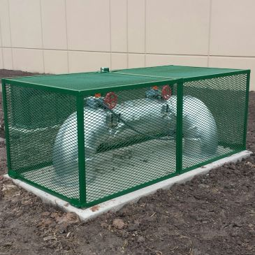 Custom backflow cage enclosure