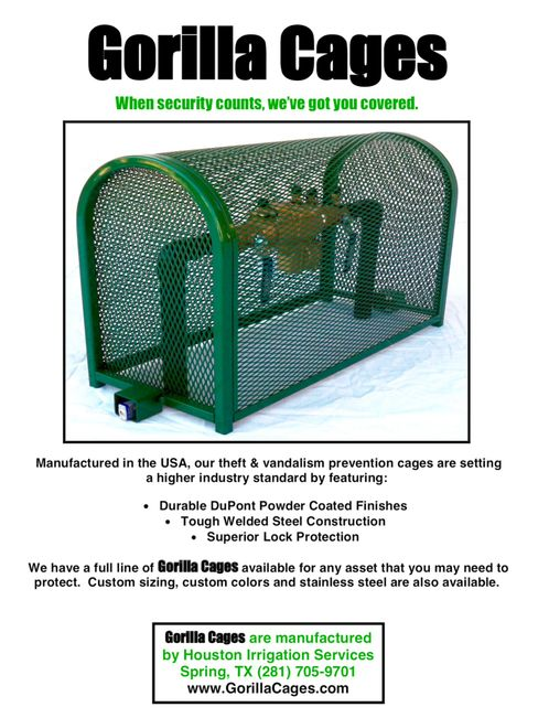 Gorilla cage backflow cage enclosure