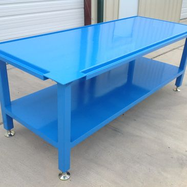 Custom metal fabrication table