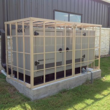 Custom generator cage enclosure
