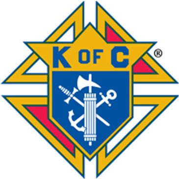 Knights of Columbus shield with a fasces, an anchor, and a dagger mounted on a Formée cross