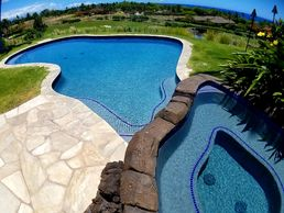 Five Star Pools, Inc. Hydrazzo Swimming Pool Interior Finish Mauna Kea Resort
