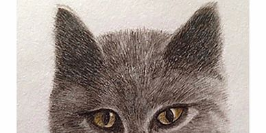 Lynne Young 'Luna' watercolour miniature