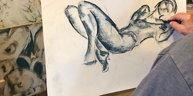 life drawing class in swindon, portraits figure drawing class, art community swindon, mams gallery studio swindon, total health cafe swindon, CBD cafe, art for therapy, positive mental health