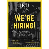 WE ARE HIRING! FULL TIME ONLY! -KITCHEN HELPER -SERVICE CREW (WAITER/WAITRESS)