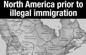 This map shows North America prior to illegal immigration by displaying the many American Indian nat