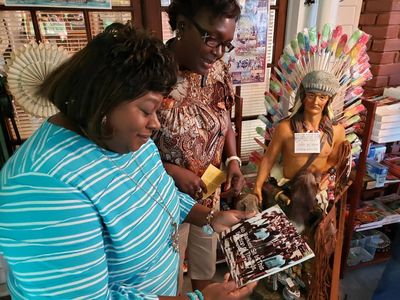 Local school teachers visit and patronize our gift shop after a tour.