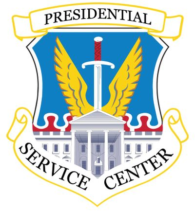 The logo of the US Presidential Service Center.