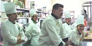 Chef Marti gives a speech at the California Culinary Academy and is featured in ALL HANDS Magazine.