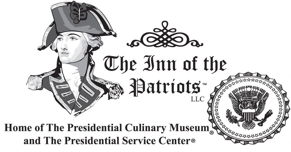 Logo of The Inn of the Patriots, US Presidential Culinary Museum and US Presidential Service Center.