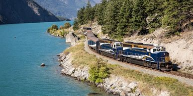 rocky mountaineer british columbia day train rail canadian rockies alberta jasper banff canada