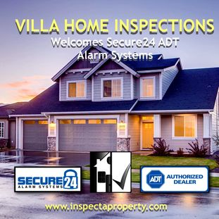 Secure24 ADT Alarm Systems. Partners with Villa Home Inspections