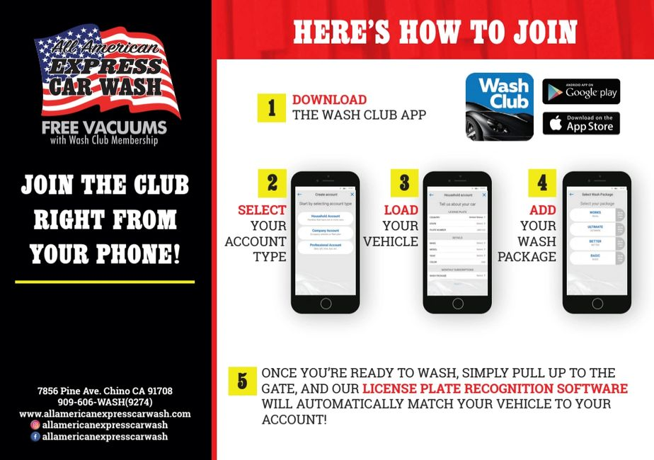 Join the Wash Club for as low as $19.99 per month