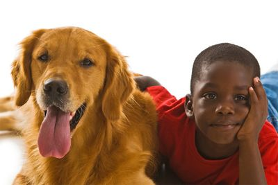 Child and dog image