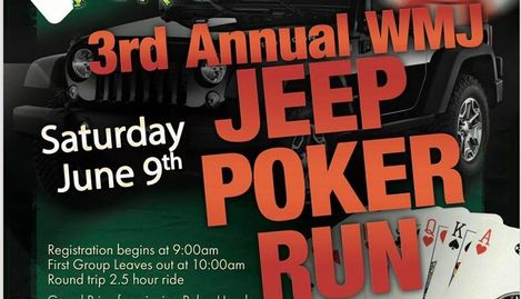 Jeep Poker Run flyer