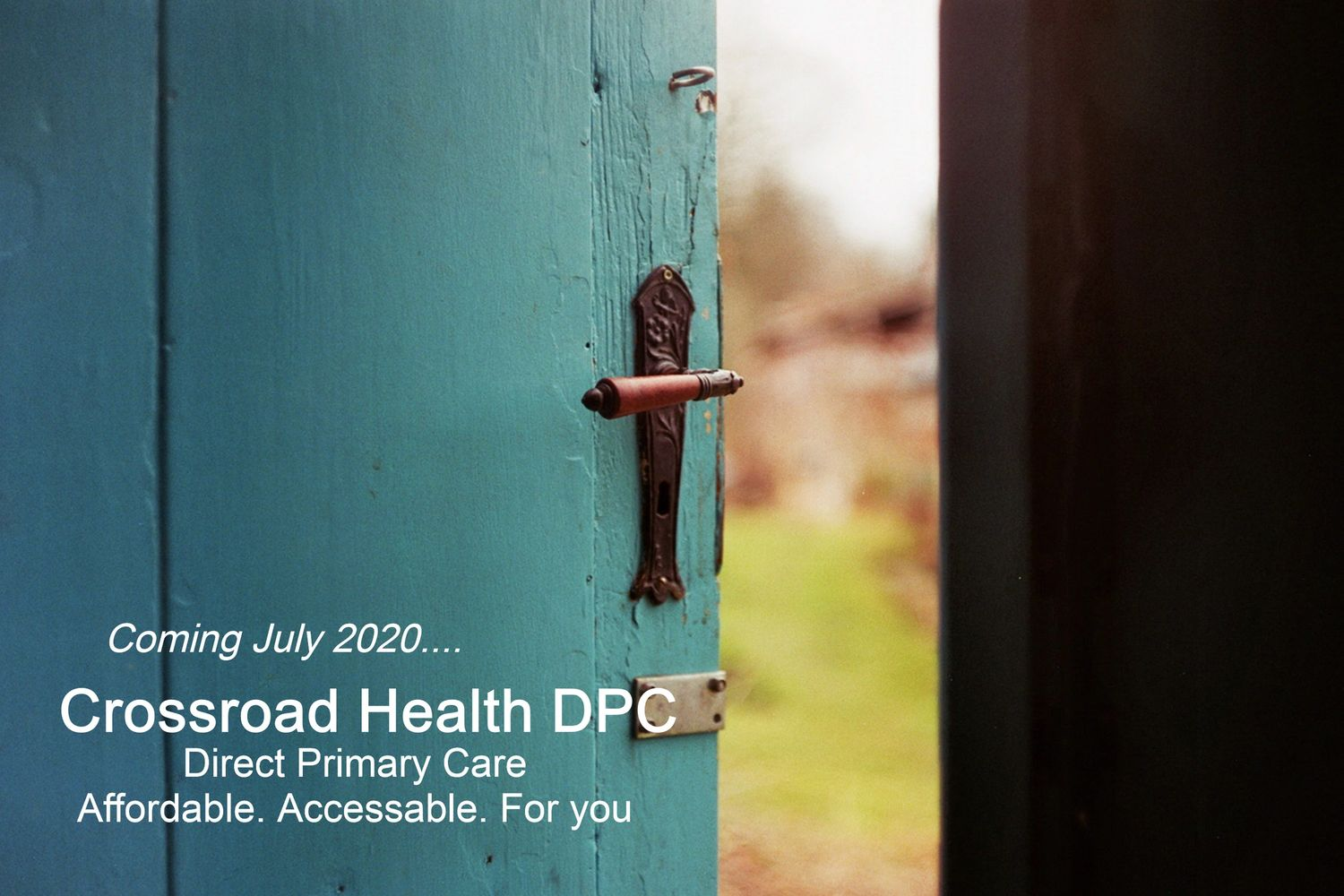 Opening door. Opportunity. Direct Primary Care Southaven, MS Photo by Jan Tinneberg on Unsplash