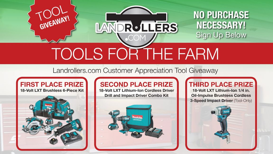Tool Giveaway, No Purchase Necessary, Tools For The Farm, Customer Appreciation Tool Giveaway, Roll