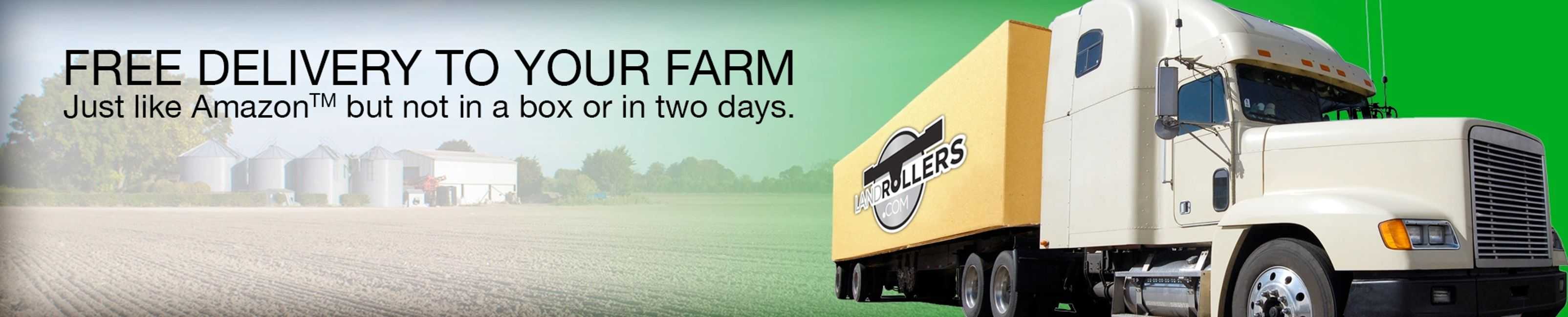 Free delivery to your farm, freight, Delivery, land roller, land rollers, landrollers.com, colors