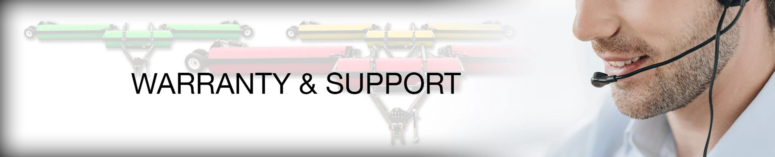 warranty, support, 1-year, 2-year, parts only support, on farm, extended warranty, landrollers.com