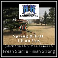 spring cleaning of property, clean-up debris, Power rake & lawn cut, Aeration, Fertilizer