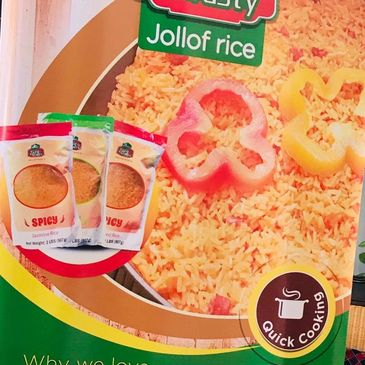 WHY USE EASY N' TASTY JOLLOF RICE o	PRE-MIXED WITH ALL NATURAL INGREDIENTS  o	NO PRESERVATIVES o
