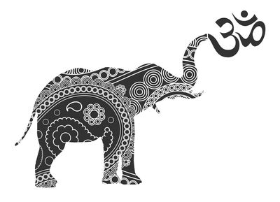 Lucky Elephant Yoga and Wellness Logo