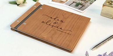 Our custom guestbook.