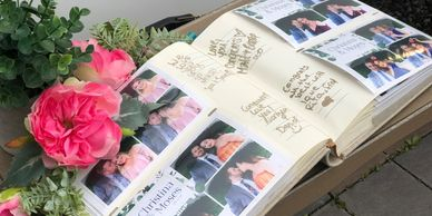 Regular Scrap book / guest book, We will add a copy of each session and add it to this basic album.